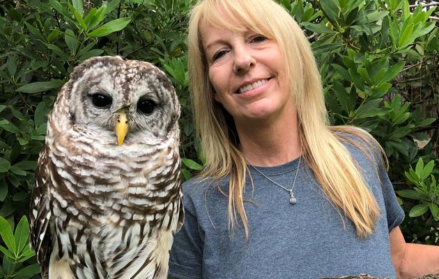 Sue Hills, Raptor Care Assistant