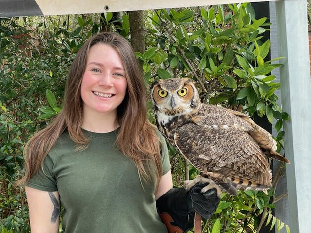 Tabitha Smith, Raptor Care Assistant