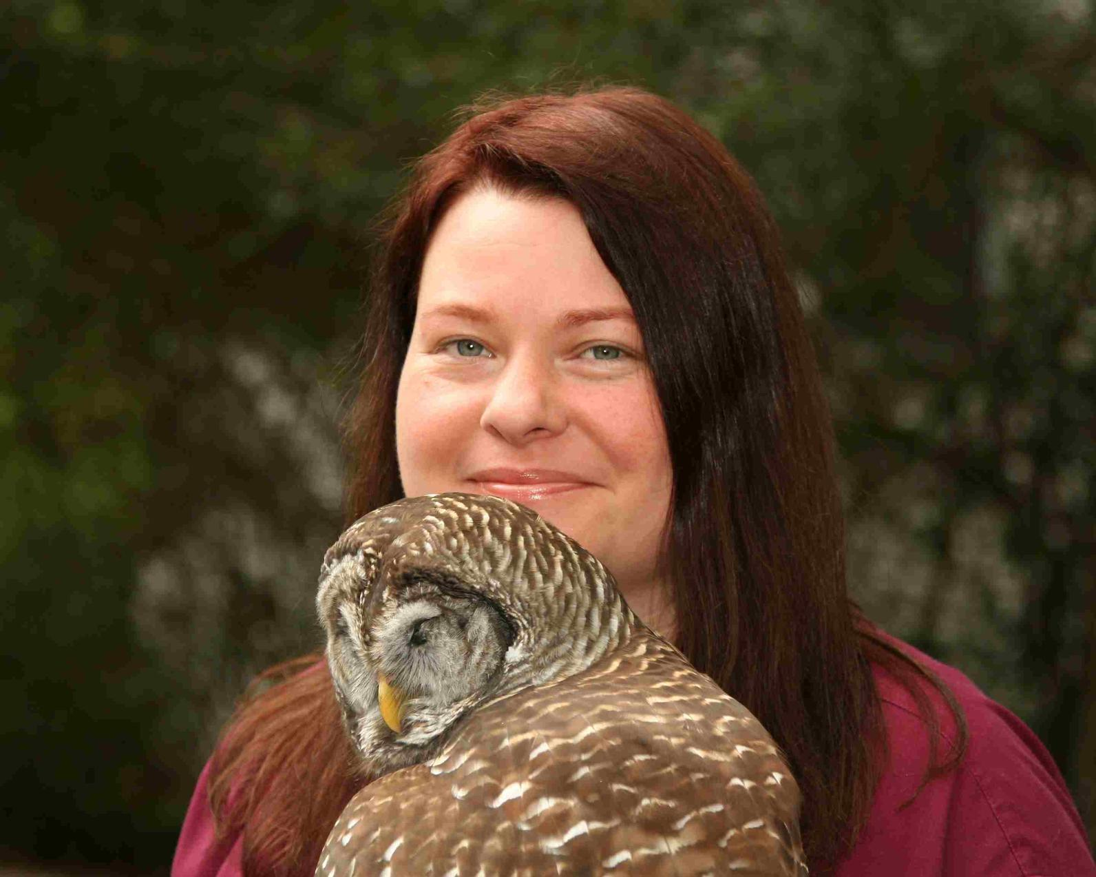 Beth and Barred Owl Merlin