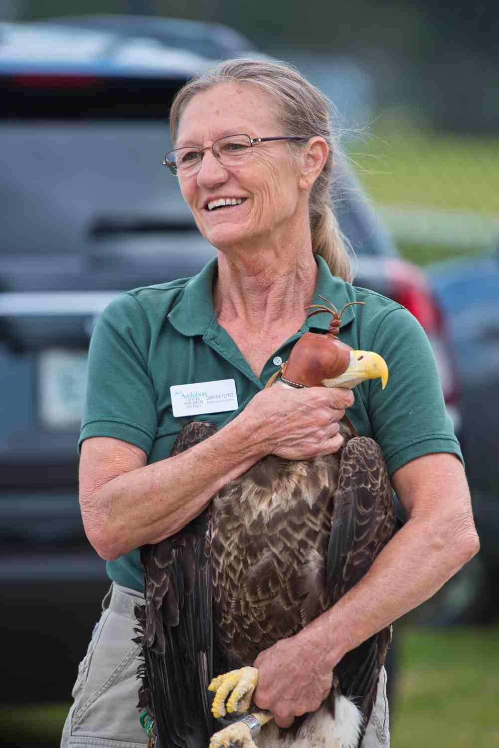 Photo of Bald Eagle and Dianna at 600th release